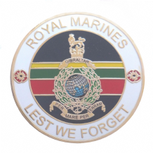 Corps of Royal Marines 'Lest We Forget' Service Personel Remembrance Coin - Boxed